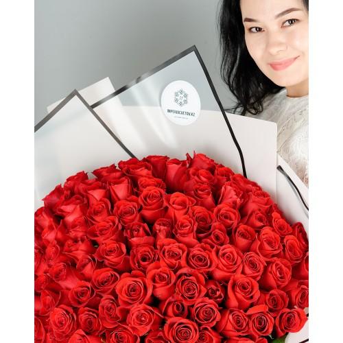 Купить на заказ Заказать Букет из 101 красной розы с доставкой по Семей  с доставкой в Семее