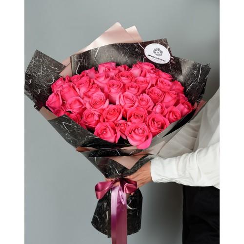Купить на заказ Заказать Букет из 51 розовых роз с доставкой по Семей  с доставкой в Семее