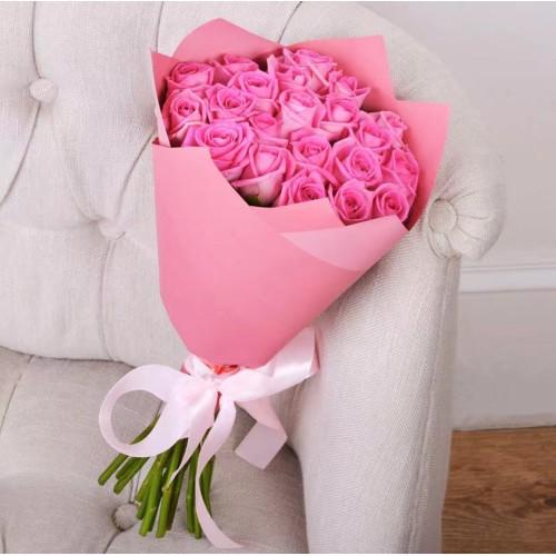 Купить на заказ Заказать Букет из 21 розовой розы с доставкой по Семей  с доставкой в Семее