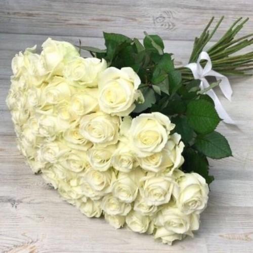 Купить на заказ Заказать Букет из 51 белой розы с доставкой по Семей  с доставкой в Семее