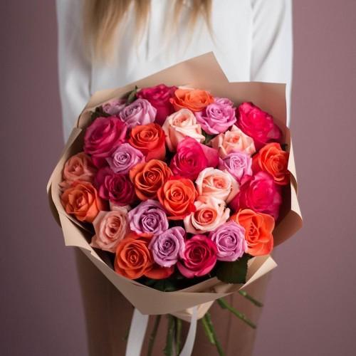 Купить на заказ Заказать Букет из 25 роз (микс) с доставкой по Семей  с доставкой в Семее