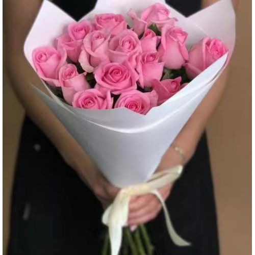 Купить на заказ Заказать 15 розовых роз с доставкой по Семей  с доставкой в Семее