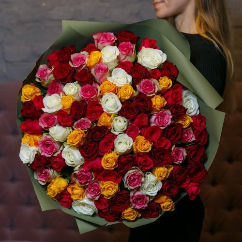Купить на заказ Заказать Букет из 101 розы (микс) с доставкой по Семей  с доставкой в Семее