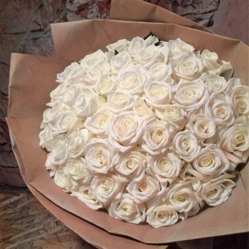 Купить на заказ Заказать Букет из 101 белой розы с доставкой по Семей  с доставкой в Семее